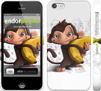 """Чехол на iPhone 5c Мартышка с бананом """"1245c-23"""""""