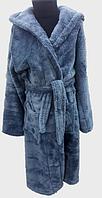 Детский махровый халат Velsoft Zeron серый