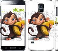 "Чехол на Samsung Galaxy S5 g900h Мартышка с бананом ""1245c-24"""