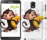 "Чехол на Samsung Galaxy Note 3 N9000 Мартышка с бананом ""1245c-29"""
