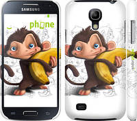 "Чехол на Samsung Galaxy S4 mini Duos GT i9192 Мартышка с бананом ""1245c-63"""