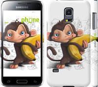 "Чехол на Samsung Galaxy S5 mini G800H Мартышка с бананом ""1245c-44"""