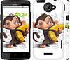 """Чехол на HTC One X+ Мартышка с бананом """"1245c-69"""""""