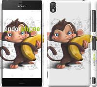 """Чехол на Sony Xperia Z3 D6603 Мартышка с бананом """"1245c-58"""""""