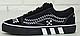Кеды Vans Old Skool OFF WHITE Black White, Кеды Ванс Олд Скул черные, фото 2