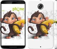 """Чехол на Motorola Nexus 6 Мартышка с бананом """"1245c-67"""""""