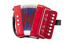 Гармошка игрушечная 6429 4 вида (Красный)