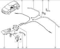 Трос стояночного (ручного) тормоза Renault Megane II (Рено Меган 2). Adriauto Италия - 41.253.1