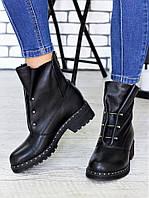 Ботинки Bruck черная кожа 6699-28, фото 1