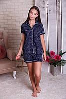 Женская пижама с рубашкой на пуговицах  Nicoletta 80926