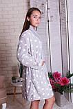 Женский теплый халат в горох  с капюшоном   Nicoletta  94068, фото 2