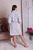 Женский теплый халат в горох  с капюшоном   Nicoletta  94068, фото 4