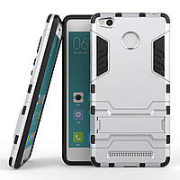 Чехол Iron для Xiaomi Redmi 3S / Redmi 3 Pro бронированный бампер Броня Silver, фото 1