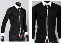Рубашка мужская стильная Stereotip Черная