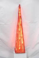 Светодиодная гирлянда-декорация Пирамида 60см 35Л красная (050208)