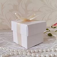 Бонбоньєрка коробочка з кришечкою біла, фото 1