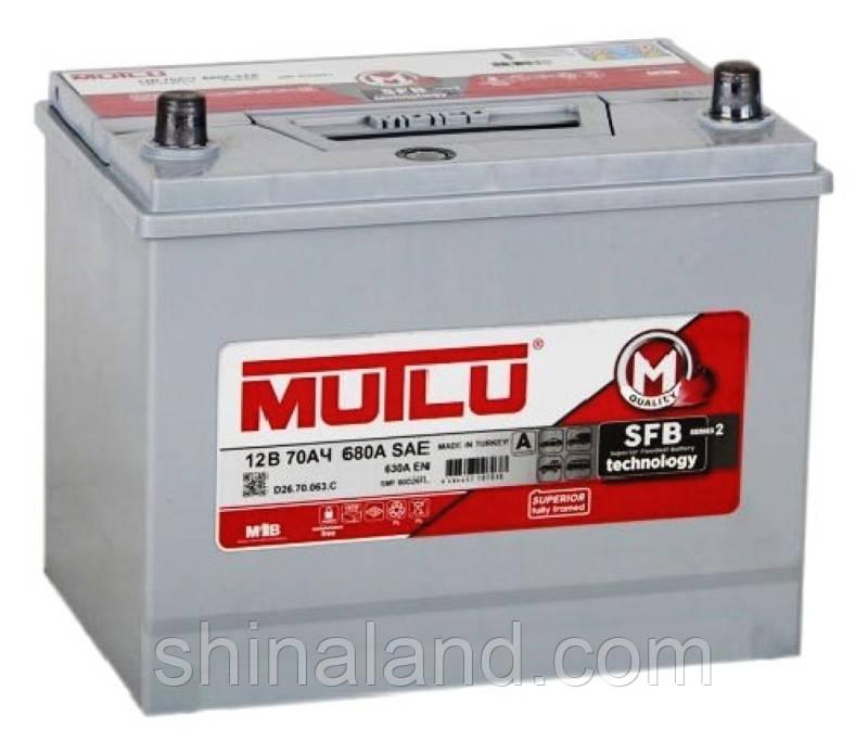 Мутлу / Автомобильный аккумулятор Mutlu SFB (D26): 70 Ач, плюс: слева, 12 В, 630 А - (D26.70.063.D), 260x173x225 мм