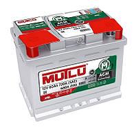 Автомобильный аккумулятор Mutlu AGM (L2): 60 Ач, плюс: справа, 12 В, 680 А - (AGM.L2.60.068.A), 242x175x190 мм