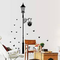 Интерьерная наклейка на стену Фонарь с бабочками AY9200