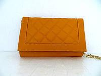 Красивая маленькая женская сумочка-клатч 100% кожа