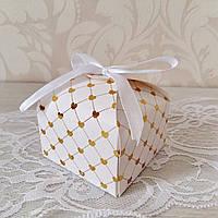 Бонбоньерка коробочка с лентой
