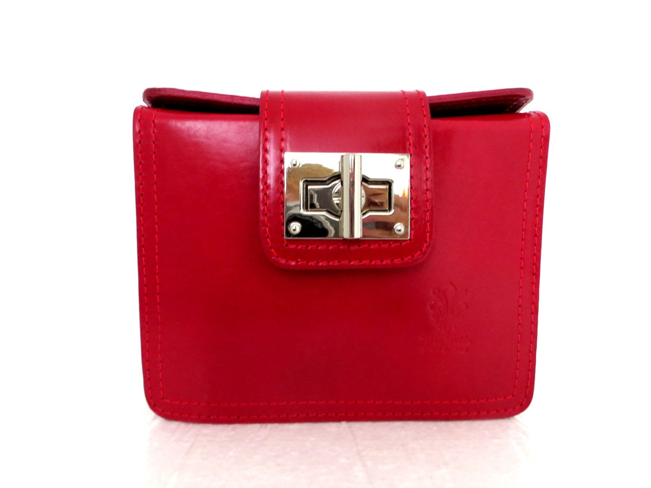 Жіноча сумочка-клатч. Модель L064. Червона. Натуральна шкіра.