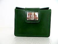 Красивая маленькая женская сумочка-клатч 100% кожа Зеленый