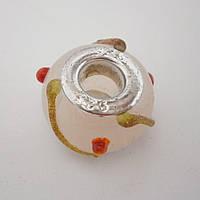 Бусина Pandora (Пандора) бело-розово-золотая P7190510, фото 1