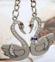 Парные брелки для влюбленных - Лебеди