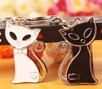 Парные брелки для влюбленных - Кошки