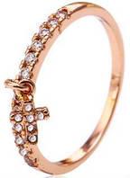 Кольцо Крестик позолота с цирконами  (gf671) Размер 17