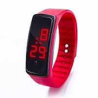 Спортивные силиконовые часы-браслет LED красные SW2-07