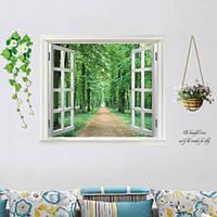 Интерьерная наклейка Распахнутое окно (ay823), интерьерная наклейка на стену