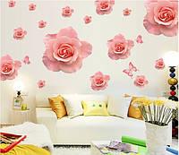 Самоклеющаяся наклейка на стену Розы (AY889), интерьерная наклейка на стену