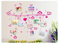 Самоклеющаяся наклейка на стену с рамочками для фото AY9146, интерьерная наклейка на стену