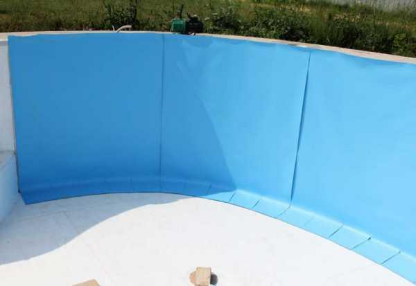 Монтаж (пайка) пленки ПВХ для бассейна, пруда, фонтана