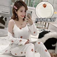 Пижама с халатом, разные расцветки