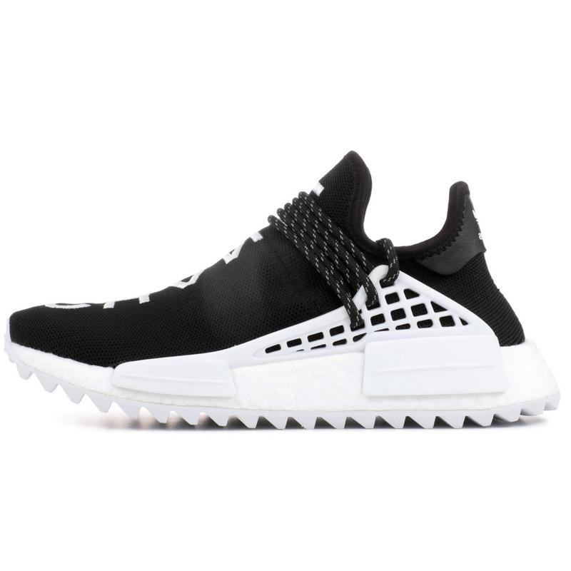 Кроссовки женские Adidas Human Race NMD x Pharrell Williams (черные) Top replic