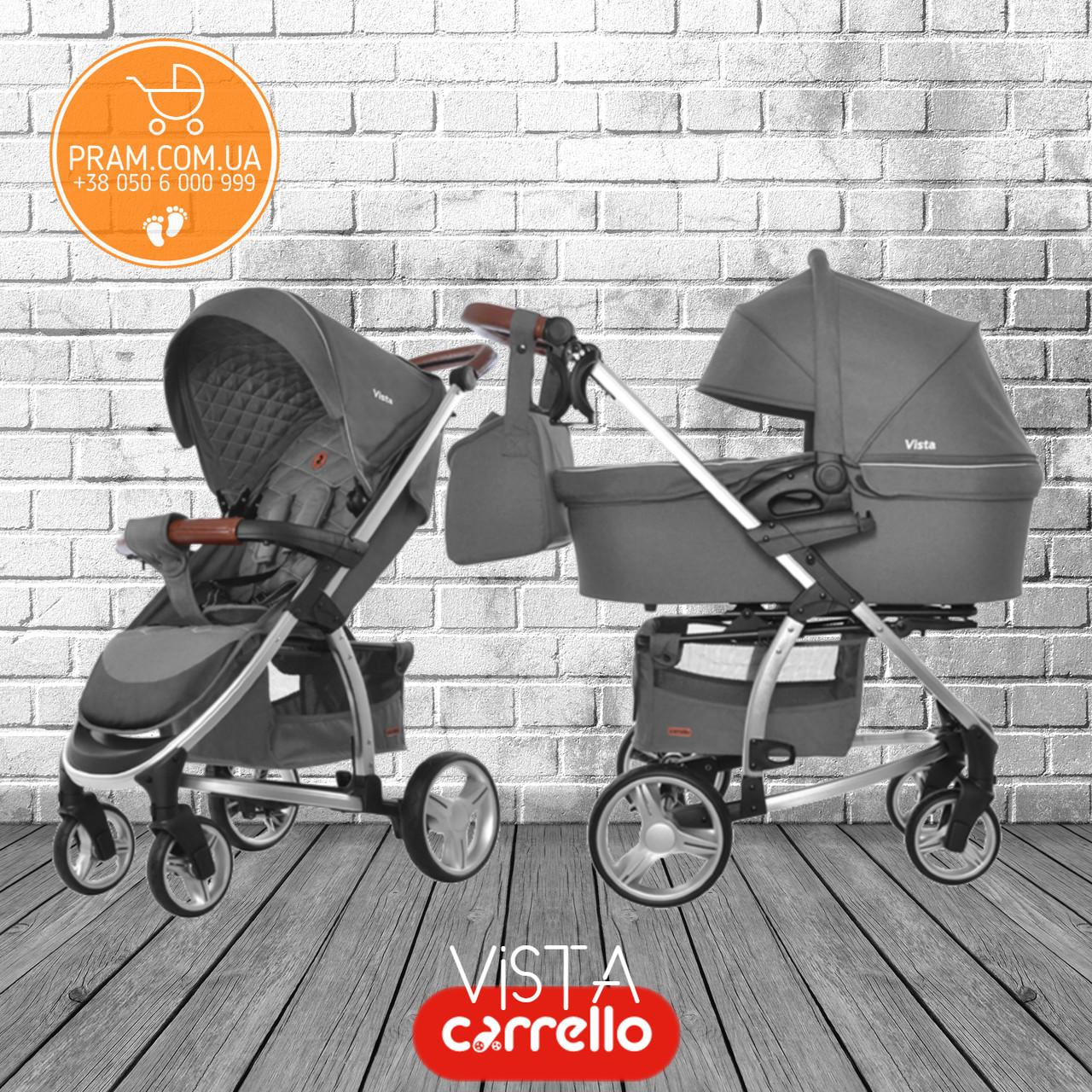 CARRELLO VISTA CRL-6501 универсальная коляска 2 в 1 Steel Gray Темно-серый
