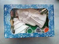 Новогодний набор гипсовых фигурок для творчества. Різдвяний набір гіпсових фігурок для творчості №65