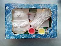 Новогодний набор гипсовых фигурок для творчества. Різдвяний набір гіпсових фігурок для творчості №68