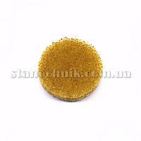 Круг скотч-брайт на липучке 30 мм P1000 (желтый)