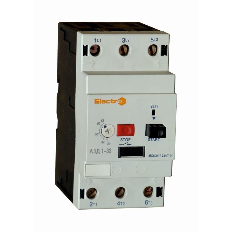Автоматичний вимикач захисту двигуна АЗД1-32, 80А