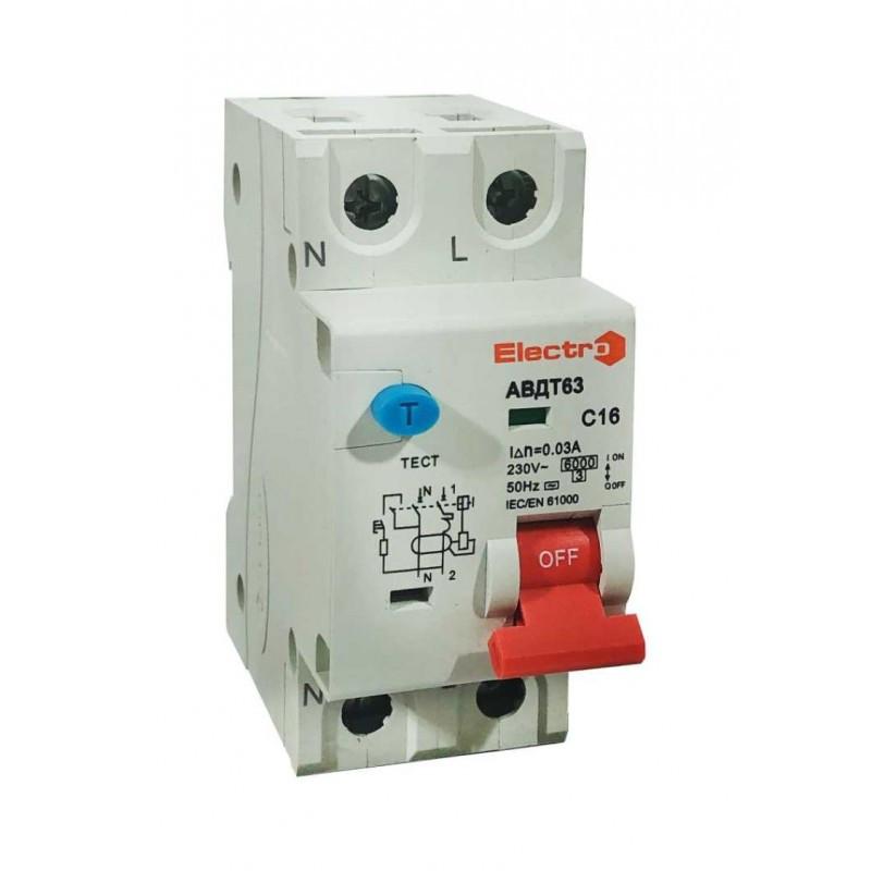 Диференційний автоматичний вимикач АВДТ63, 6кА