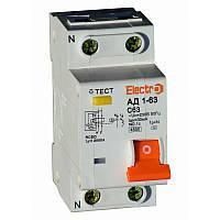 Диференційний автоматичний вимикач АД1-63, фото 1