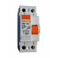Пристрій захисного відключення УЗО 1-63,2P, фото 1
