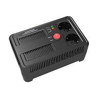 Електронний стабілізатор напруги НСТ-1500 на 2 розетки, фото 1
