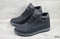 Мужские кожаные зимние ботинки Levis  (Реплика) (Код: М-2  ) ►Размеры [40,41,42,43,44,45], фото 1