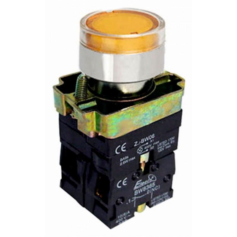 Кнопка нажимна з LED підсвіткою PB2-BW3561