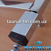 Стальной ТЭН прямоугольный 30х40: регулятор +таймер, под пульт ДУ. Хром. Польша